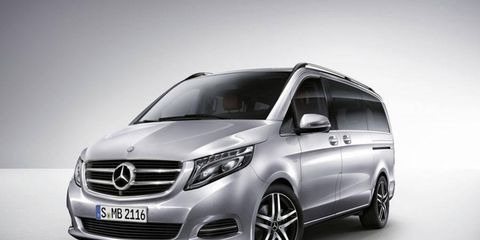 The V-class is set to go on sale shortly after its debut at the Geneva auto show.