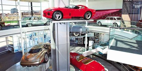The dramatic Walter P. Chrysler Museum, shown here, closed its doors to the public last year.