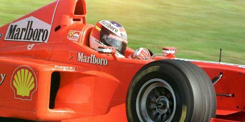 Michael Schumacher driving for Ferrari during the 1998 Formula One season.