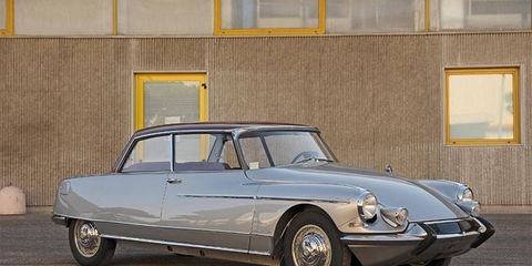 A 1964 Citroën DS19 Concorde coupé, one of 38, is up for grabs.