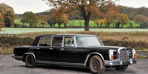 One of 26 built, this six-door Landaulet was among the most expensive unarmored versions of the 600 Pullman.