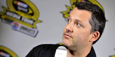 Tony Stewart was in high spirits during the NASCAR Media Tour.