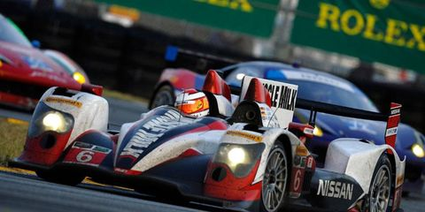 Lucas Luhr, Klaus Graf and Alex Brundle sharded the Muscle Milk/Pickett Racing ride at the Rolex 24 at Daytona.