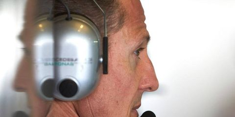 Michael Schumacher has been in a coma since a skiing accident on the French Alps on Dec. 29.