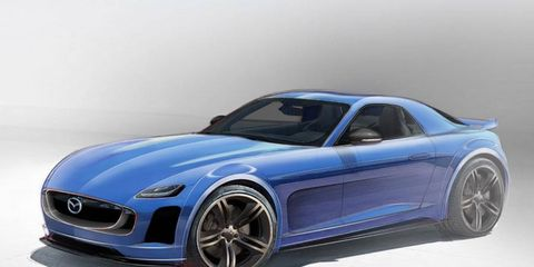 The next Mazda RX-7 could resemble this artist's rendering.