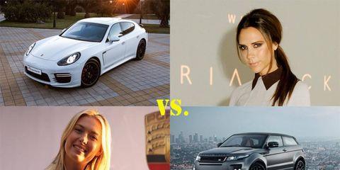Both Sharapova and Beckham both have signature vehicles.