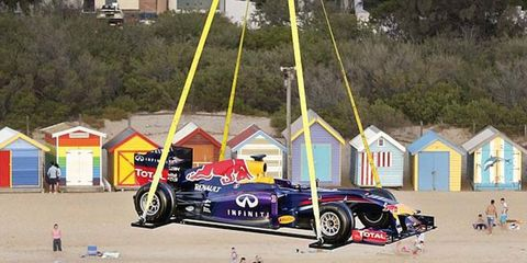 Red Bull Racing cars apparently do fly.