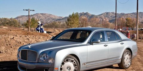 The 2013 Bentley Mulsanne is equipped with a 6.75-liter twin-turbocharged V8 that cranks out 505 hp with 752 lb-ft of torque.