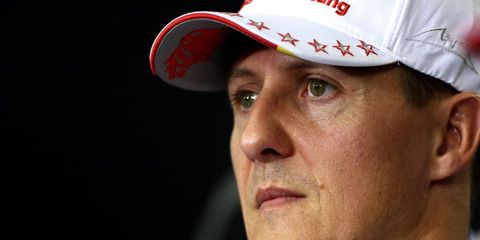 Michael Schumacher has been in a coma since a skiing accident in December.