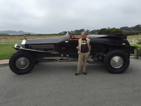 """Gary Wales builds cars as large as his character: big, bold and brash. All of them are called """"La Bestione,"""" after the original Beast of Turin, the 1910 Fiat S76 with a 28-and-a-half- liter four-cylinder built specifically to wrest the land speed record away from the Blitzen Benz. Wales' cars ride on 100-year-old fire engine frames, powered by gigantic original fire engine motors."""