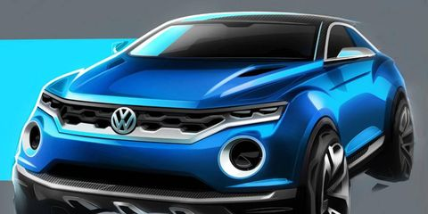 The VW T-ROC slots in below the forthcoming Taigun.