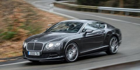 The Bentley Continental GT Speed will now have 626 hp, good for a 4.0-second sprint to 60 mph.