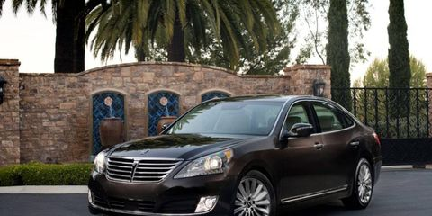 The 2014 Hyundai Equus Ultimate comes in at a base price of $61,920 with our tester topping off at $68,920.