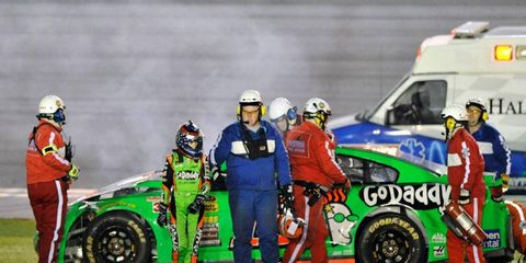 Danica Patrick finished 40th at the Daytona 500 after getting caught up in a 13-car pileup on lap 145 on Sunday night.