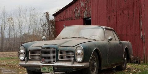 This Facel Vega has sat in the a barn for the past 40 years.