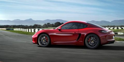 The Cayman GTS, shown here, will join the Boxster GTS above the company's S models.