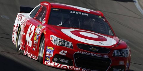 Kyle Larson driver one of Ganassi's NASCAR entries, which is sponsored by Target. Ganassi and Target Corp. are celebrating 25 years together.