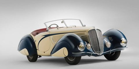 This 1939 Delahaye 135 by Figoni et Falaschi -- a flamboyant art deco masterpiece -- sold for $6.6 million.