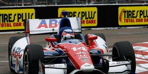 Takuma Sato put his Honda-powered Dallara on the top of the speed chart on Friday at St. Petersburg.