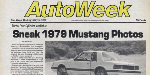 Sure, it's not exactly news today, but the 1979 Ford Mustang was hot stuff -- and it sat on the Fox platform that would endure, in one form or another, for over two decades.