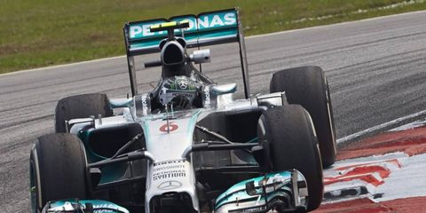 Nico Rosberg, shown, along with teammate Lewis Hamilton, is concerned about tire wear this weekend at the Malaysian Grand Prix.