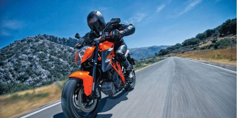 The 2014 KTM 1290 Super Duke R is totally comfortable at speed or around town.