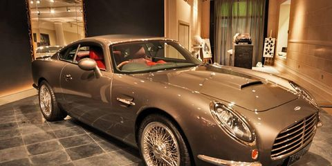 Though the David Brown Speedback is based on a Jaguar XKR, we don't think 007 would have any trouble recognizing its lines.
