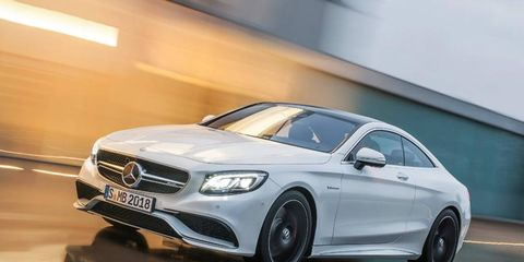 The Mercedes-Benz S63 AMG coupe packs 557 hp. It will debut at the 2014 New York auto show.