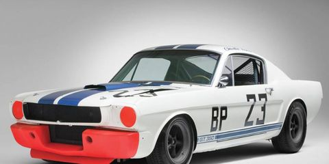 RM Auctions sold this 1965 Shelby Mustang GT350R for nearly $1 million. How much would a wild fiberglass-bodied Mustang racer be worth today?