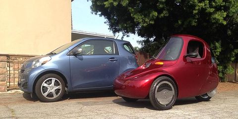 We found a nearby Scion iQ, which was kind of perfect.