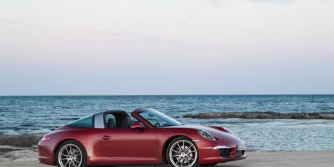 The 2015 Porsche 911 Targa makes 350 hp; the S model makes 400 hp.