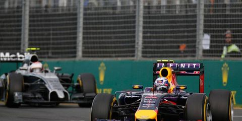 The Formula One battle between McLaren and Red Bull Racing is not only being waged on the track.