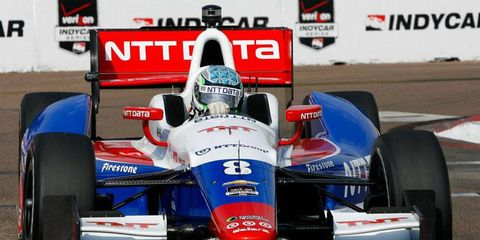 Ryan Briscoe on his way to a 10th-place finish at St. Petersburg.