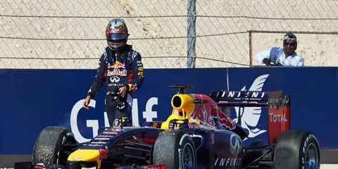 Sebastian Vettel's Saturday at the track included a mechanical issue that shortened his final practice session before qualifying.