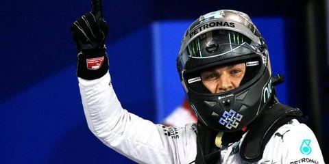 Nico Rosberg won his first pole of the season on Saturday in Bahrain.