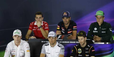 Each driver was asked a variety of questions before the Bahrain Grand Prix.
