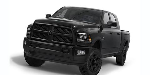 The Black Package is now available on Ram Heavy Duty 2500 and 3500 trucks.
