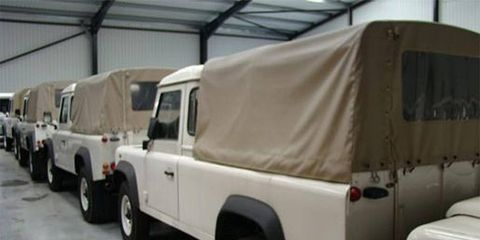 If you had 43 military Land Rover pickups, what country would you invade? We say Luxembourg.