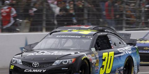 Parker Kligerman, who drives for Swan Racing, takes laps during a recent race. Swan Racing is having a hard time securing sponsors.