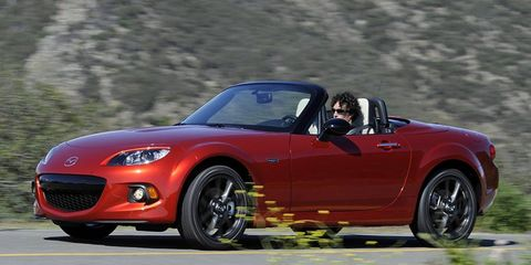 Mazda's 25th Anniversary Edition Miata gets exclusive colors inside and out.