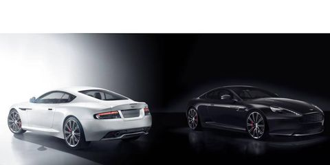 The two new Aston Martin models will debut at the New York auto show. Shown here is the new DB9 model.