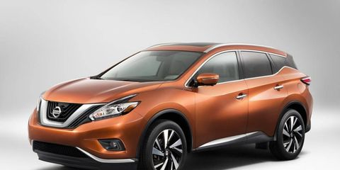 This is not the Nissan Resonance concept -- it's the production-ready version of the 2015 Nissan Murano crossover, which will debut Wednesday at the New York auto show.