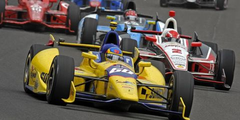 """Townsend Bell, shown in last year's Indy 500, is hoping to win the 2014 rendition of the """"Greatest Spectacle in Racing."""""""