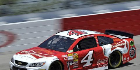 On Friday, Kevin Harvick won the pole for the NASCAR Sprint Cup race in Darlington.