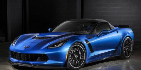 The 2015 Chevy Corvette Z06 convertible gets the same power as the coupe.