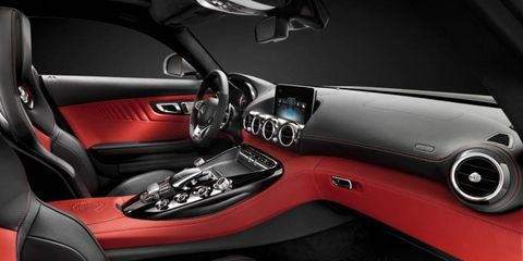 The Mercedes-AMG GT sports-car interior looks to be a fine place to conduct business.