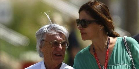 Bernie Ecclestone, left, is reportedly receiving $100 million a year from his former wife, Slavica, right, from the couple's 2009 divorce.
