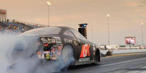 Erica Enders-Stevens won the Pro Stock division on Sunday in Texas.