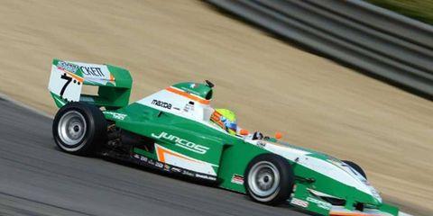 Spencer Pigot won his fourth consecutive Mazda Pro Series race of the season on Sunday.