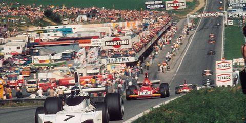 The Osterreichring in Zeltwig, Austria, circa 1974.